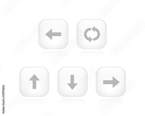 White Arrow Buttons