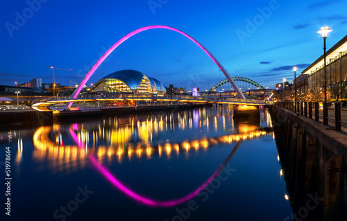Leinwandbild Motiv Millennium Bridge Newcastle
