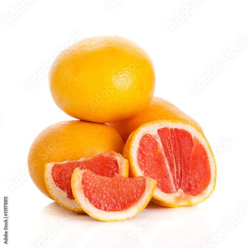 grapefruits. grapefruit isolated on white background