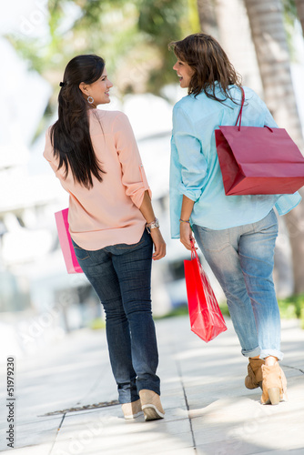 Female shoppers at the mall