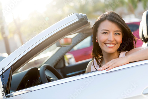 Beautiful female driver