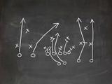 Fototapety Footbal play strategy