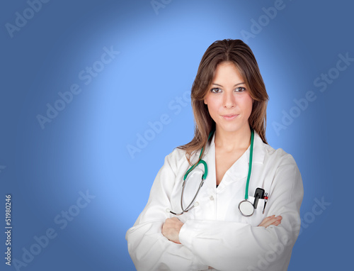Atractive medical with arms crossed
