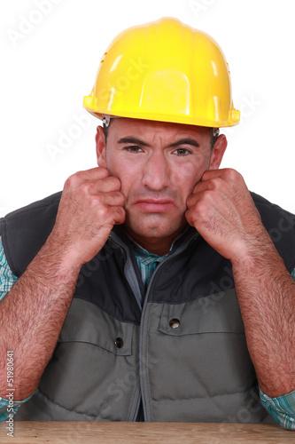 Sad builder