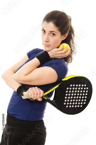 Paddle tennis feminine player