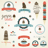Ice Cream Retro Vintage Labels