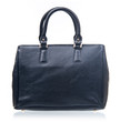 Black female handbag isolated over white