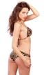 Pretty girl in bikini looking back
