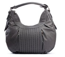 Dark-grey women bag over white