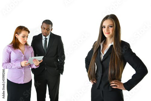 Business Woman and Team