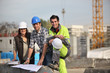 A team of construction workers