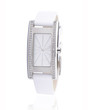 White color luxury and elegance woman wristwatch isolated