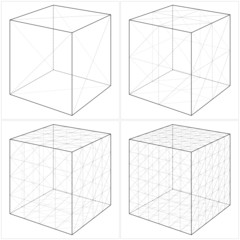 Cube From The Simple To The Complicated Shape Vector 05