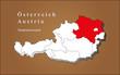 Österreich Niederösterreich hervorgehoben