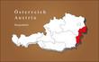 Österreich Burgenland hervorgehoben