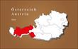 Österreich Tirol hervorgehoben
