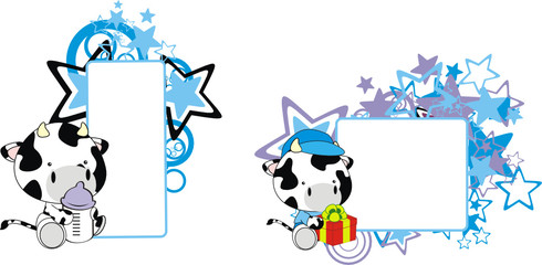 cow baby cartoon copyspace