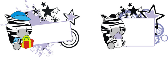 zebra baby cartoon copyspace