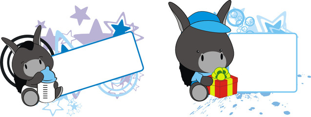 donkey baby cartoon copyspace
