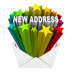 New Address Envelope Letter Mail Notice