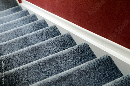 Staircase with carpet - 51982470