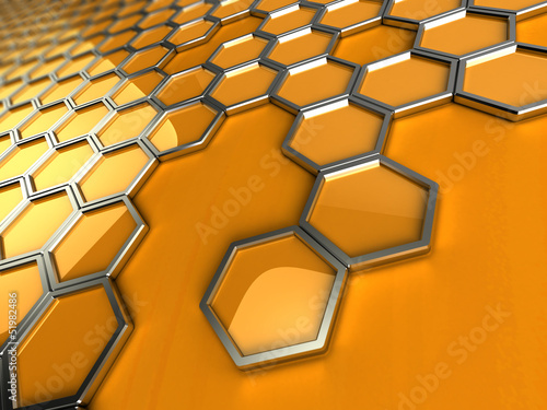 abstract pattern of honeycombs