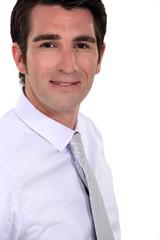 Profile shot of businessman