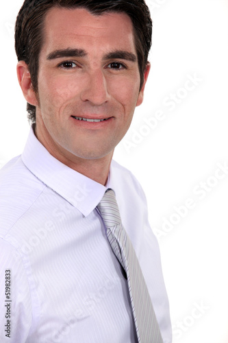 Profile shot of businessman