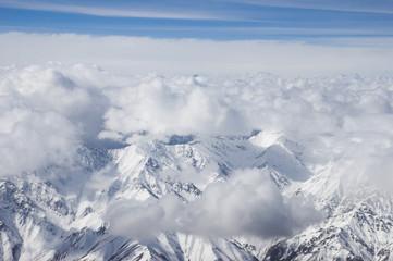 bird eyes view of Karakoram in Ladakh, India