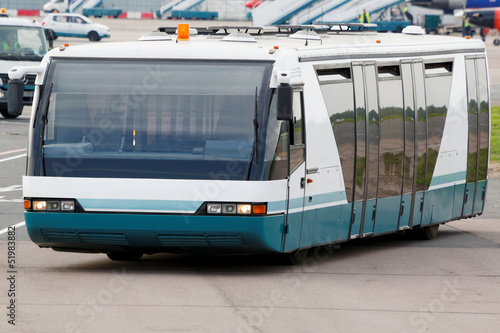 Bus for transportation of passengers in airport
