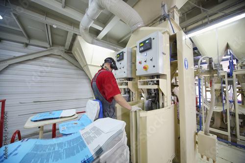 Man work at factory
