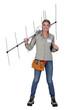 Female antenna installer