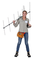 Female antenna installer