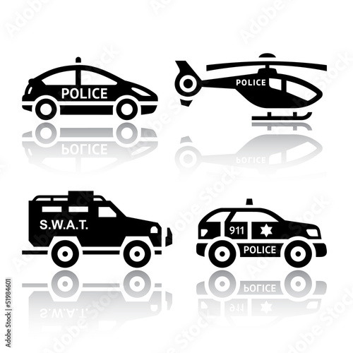 Set of transport icons - Police part 2