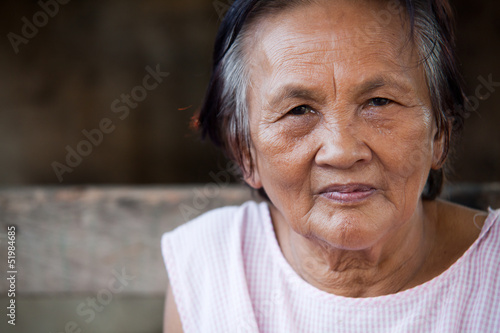 Asian senior woman portrait