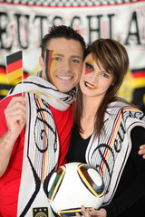 Proud German couple