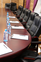 Interior of empty conference room