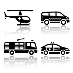 Set of transport icons - transport services