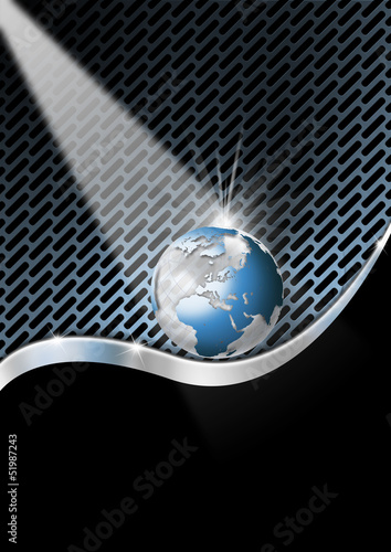Blue and Metal Business Background