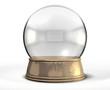 Snow Globe Crystal Ball Isolated - 51987894