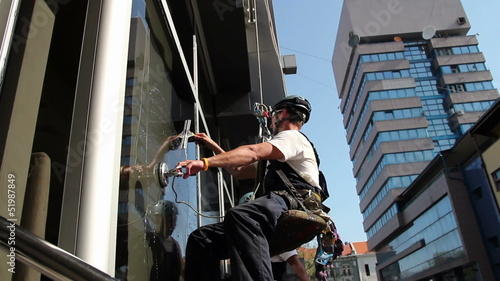 Window Washers on a Office Building