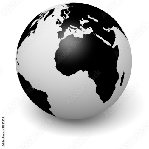 Globe 3D illustration