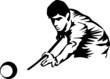 Постер, плакат: billiards player