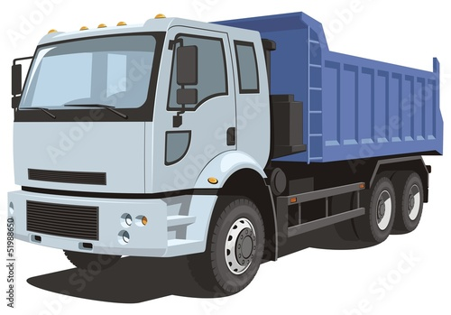 Vector isolated dump truck