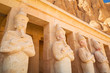 Statues of Queen Hatshepsut in the temple, Egypt