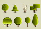 eight different trees