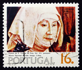 Postage stamp Portugal 1984 Nun, Painting, 15th Century