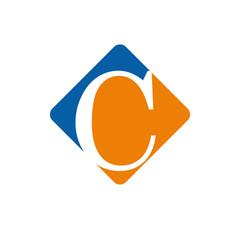 Vector color logo initial letter C