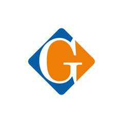 Vector color logo initial letter G