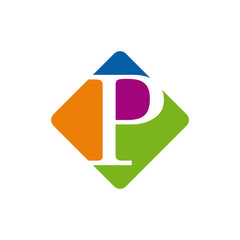 Vector color logo initial letter P